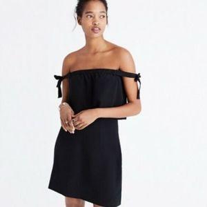 Madewell Silk Off The Shoulder Bodice Mini Dress
